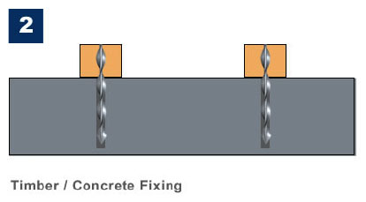Marine Ties Application 2 - Timber/Concrete Fixing