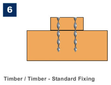 Marine Ties Application 6 - Timber/Timber Standard Fixing