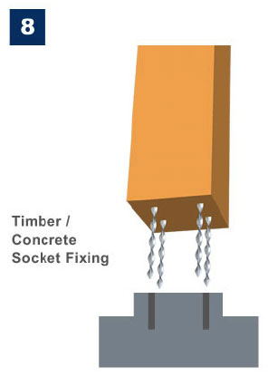 Marine Ties Application 8 - Timber/Concrete Socket Fixing